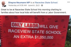 Shayne Neumann MP targets parents